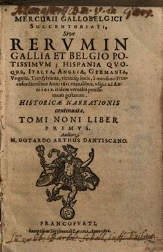 Mercurius Gallobelgicus - Gotardo Arthus - vol. 9:1 (1612)