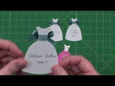 Use the Seals-Dress Pinnovation die to create escort cards, quinceanera invitations, bridal shower invitations or even attach to favors.