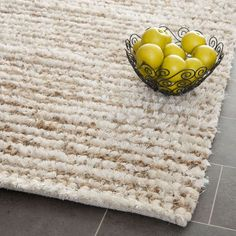 Safavieh Metro Shag Collection White and Beige Shag Area Rug, by Inspired by the rustic-chic design trend, Aspen Shag rugs from Safavieh Plush Area Rugs, Wool Area Rugs, Beige Area Rugs, Wool Rug, Aspen, Hemp Yarn, Braided Area Rugs, Shag Carpet, Square