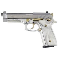 Taurus Model 100 Semi Automatic Handgun .40 S 5  Barrel 10 Rounds Mother of Pearl Grips Stainless Steel Finish with Gold Accents