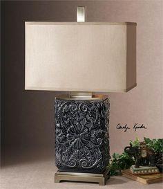 Uttermost Pratola Charcoal Blue Lamp (26161-1)