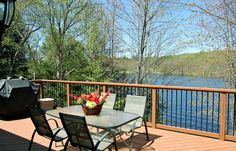 Sunny deck, BBQ included, with a gorgeous view of Lake Vernon!