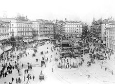 puerta del sol hacia 1919, viendo pasar la historia de madrid...