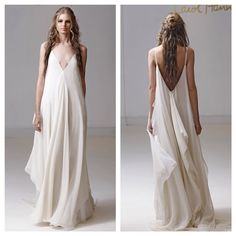 """""""Runway shots are in!  Meet Celestine, a dreamy cloud of chiffon in layers of white, ivory, and nude."""""""