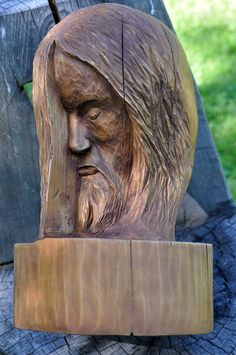 Woodcarving Head of Christ