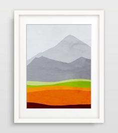 Orange Abstract I #ModernLandscape #ModernLandscaping