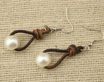 leather cord earrings - Cerca con Google