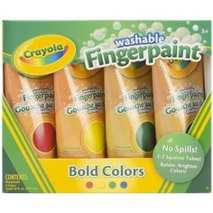 Crayola Washable Fingerpaint - Primary Colors