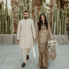The San Francisco-based couple wed at Acre Baja in San Jose del Cabo, Mexico, a lush farm-to-table restaurant. Hindu Wedding Ceremony, Reception Gown, Father Daughter Dance, Gifts For Wedding Party, Wedding Couples, Real Weddings, Wedding Inspiration, Wedding Ideas, Wedding Photography
