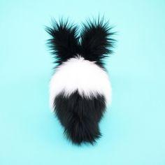 Oscar the Black and White Bunny Stuffed Animal Plush Toy