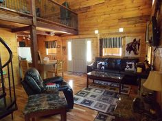 Outlaw Cabin in Hocking Hills has a nice secluded western feel to it. Hocking Hills Cabins, Ohio State Parks, Bed, Vacation, Furniture, Nice, Home Decor, Beautiful, Vacations
