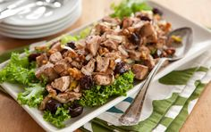 Winter Chicken Salad with Walnuts and Dried Cherries - Recipes - Whole Foods Market Cooking Fodmap Recipes, Paleo Recipes, Whole Food Recipes, Detox Recipes, Free Recipes, Sonoma Chicken Salad, Dried Cherries, Tart Cherries, Dried Cranberries