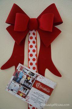 8 Christmas Decorating Tips | Super easy Christmas Card Holder