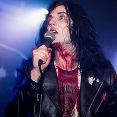 Will Gould, covered in blood