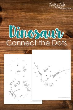 Dinosaur connect the dots printables - Learn to count while creating your own dinosaur and then color them in, perfect for dinosaur lovers. #dinosaurs #math #kidsactivities