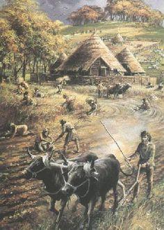 Gaulish farm scene