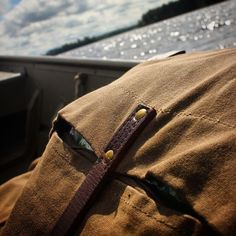 #FrostRiver waxed canvas canoe pack on the water