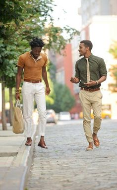 An olive shirt with khaki tie and slacks: would look great on my hubs with his slightly reddish tinted brown hair.