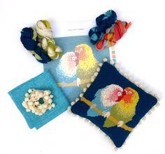 lovebirds needlepoint kit www.madinengland.com