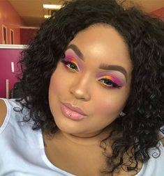 "Hair | Makeup | Tutorials on Instagram: ""Sunshine ☀️ Details on this look: Eyes: @morphebrushes 35b @nyxcosmetics White liner Brows: @bhcosmetics auburn Face: @katvondbeauty…"" • Instagram sunset makeup eyeshadow"