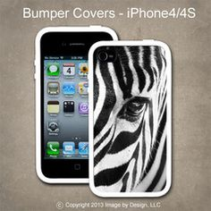 Zebra Eye- I Phone 4, 4s Bumper Cover