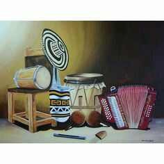 Folklore, Canvas Art, Watercolor Painting, Music Instruments, Wine Cellars, Picture Wall, Colombia