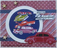 Marianne Design, Art Journals, Besties, Volkswagen, Daisy, Craft Ideas, Man Card, Cards, Men