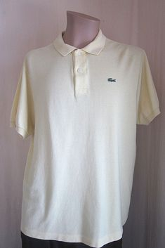 b2bd3693c LACOSTE Mens Yellow Alligator Short Sleeve Polo Shirt Size 7 XL XLarge  #Lacoste #PoloRugby