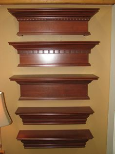 Selection of some of the wood cornice boards from Hunter Douglas Wood Cornice, Wood Valance, Cornice Boards, Valance Ideas, Kitchen Window Valances, Window Cornices, Door Molding, Moldings And Trim, Moulding