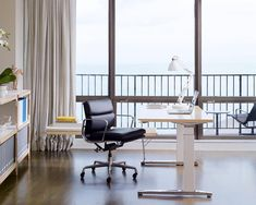 Shop the authentic Eames Soft Pad Management Chair with Pneumatic Lift by Herman Miller, a classic modern office chair designed by Charles and Ray Eames, with extra cushioning for maximum comfort. Used Office Chairs, Used Office Furniture, Furniture Sets, Furniture Design, Office Desk, Modern Furniture, Herman Miller, Best Standing Desk, Standing Desks
