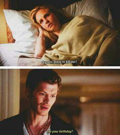 The Vampire Diaries. Caroline and Klaus, she's his weakness and it's so precious. Klaus The Originals, Vampire Diaries The Originals, Klaus And Caroline, Caroline Forbes, The Salvatore Brothers, Vampire Diaries Memes, Cw Series, Original Vampire, Vampire Dairies