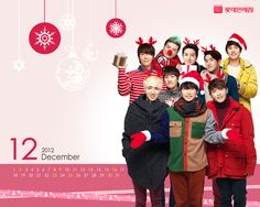 Best #SUPER JUNIOR Wallpaper collection. Download all of Super Junior Christmas Wallpaper Calendar Wallpaper collection here.