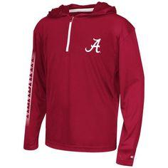 Colosseum Athletics™ Boys' University of Alabama Sleet 1/4 Zip Hoodie Windshirt