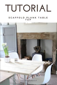 Step by Step Easy DIY Tutorial for Rustic Scaffold Plank Dining Table made from scaffold boards by Life with Holly Scaffold Table, Scaffold Boards, New Kitchen Inspiration, Plank Table, Diy Dining Table, Scaffolding, Diy Wood Projects, Easy Diy, Child
