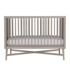 DwellStudio Mid-Century Convertible Crib in French Grey & Reviews | Wayfair