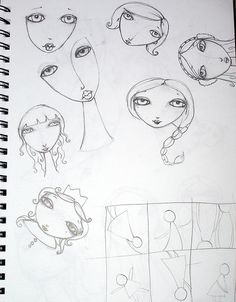 for my bday, i thought i'd take a new workshop class for fun, found suzi blu and LOVED all the fun mixed media techniques.here's some sketches from my sketchbook for the workshop. Doodle Sketch, Doodle Art, Drawing Lessons, Art Lessons, Mixed Media Faces, Art Journal Inspiration, Painting Inspiration, You Draw, Art Drawings Sketches