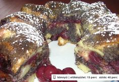 Meggyes mákos guba Hungarian Desserts, Hungarian Cake, Hungarian Recipes, Guam, Cake Cookies, French Toast, Pork, Food And Drink, Cooking Recipes