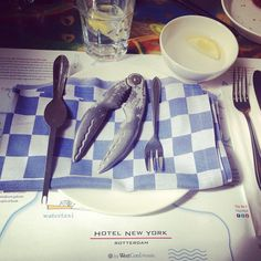 Ready for eating lobster at Hotel New York Rotterdam. Photo: @katepoes