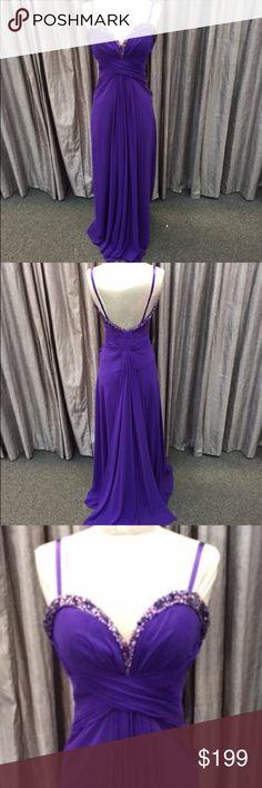 La Femme chiffon gown La Femme majestic purple dress. Great condition. La Femme Dresses