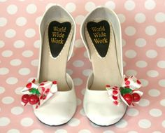 cherry wedding shoes