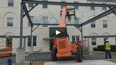 Installation of a carport canopy at Chester County Hospital in West Chester PA.