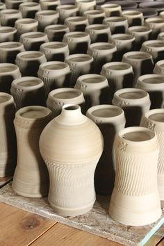 Vase and cups drying
