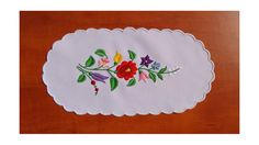 Traditional Hungarian Kalocsa embroidery runner by kalocsa on Etsy
