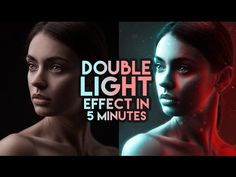 How to create a double light effect in Photoshop Photoshop Tutorials Youtube, Ps Tutorials, Photoshop Design, Photoshop Photography, Photography Tutorials, Creepy Photography, Light Photography, Amazing Photography, Effects Photoshop