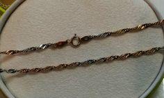Vintage Halsschmuck - Halskette Gold 333 gedrehtes Design bicolor GK115 - ein Designerstück von Atelier-Regina bei DaWanda