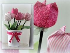 Passo a passo/tutorial - tulipa de tecido. Tissue Flowers, Felt Flowers, Diy Flowers, Fabric Flowers, Easy Crafts, Diy And Crafts, Arts And Crafts, Paper Crafts, Flower Tutorial