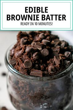 If you love brownies as much as I do, you're going to love this Edible Brownie Batter Cookie Dough recipe! It's sinfully delicious and ready in 5 minutes. #ediblebrowniebatter #browniebatter #ediblecookiedough #brownies Cookie Dough For One, Cookie Dough Recipes, Edible Cookie Dough Recipe For One, Quick Easy Desserts, Just Desserts, Delicious Desserts, Fall Dessert Recipes, Desert Recipes, Edible Brownie Batter Recipe