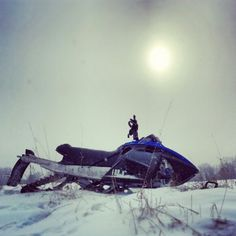 Afternoon snowmobile ride! #snowmobiling #snowmobile
