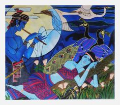 Buy Paintings Online by Artist PARESH V MORE - Blue Dreams - CE102815