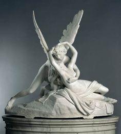 Amor et Psyche, de Antonio Canova Angel Sculpture, Roman Sculpture, Sculpture Art, Alphonse Mucha, Kissing Drawing, Modern Art, Contemporary Art, Fanart, Louvre